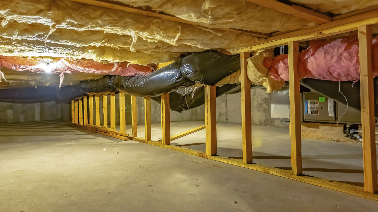 Control Moisture with Vapor Barrier In Your Crawl Space