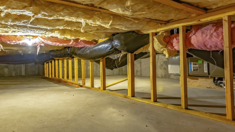 Problems with a damp crawlspace