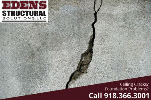 crack where ceiling and wall meet
