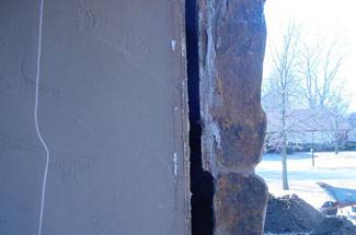 Signs of foundation failure. Foundation damage repair.